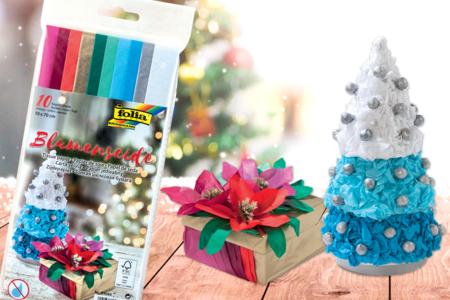 Papiers de soie couleurs de Noël - Set de 10 - Papier de soie – 10doigts.fr