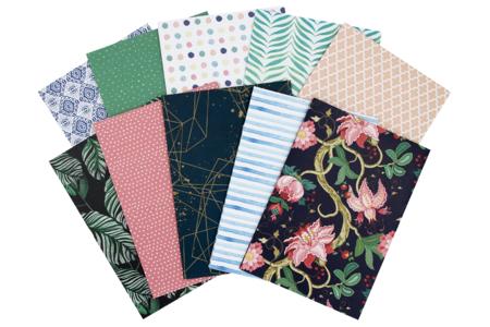 Papier décoratif élégant- Carnet de 10 grandes feuilles - Activités en papier – 10doigts.fr