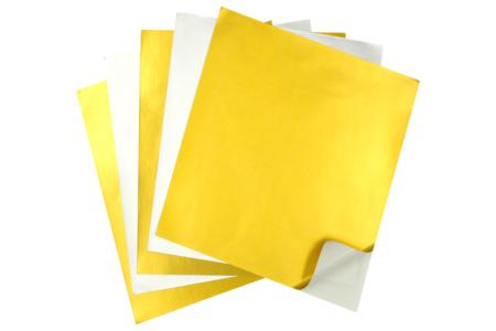 Papier adhésif métallisé or et argent - Set de 24 - Papiers adhésifs – 10doigts.fr