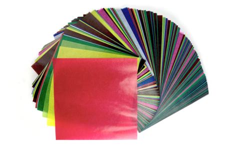 Papier vitrail - 10 couleurs assorties - Papiers Vitrail – 10doigts.fr