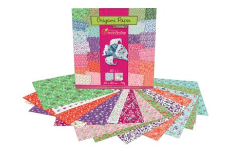 Papier Origami Fleurs - 60 feuilles - Origami – 10doigts.fr
