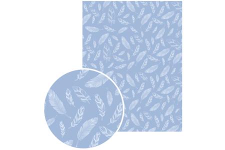 Papiers à encoller camaieu bleu - 3 feuilles  - Papiers à vernis-coller – 10doigts.fr