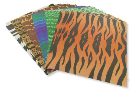 Papiers peaux d'animaux - Set de 40 - Papiers motifs animaux – 10doigts.fr