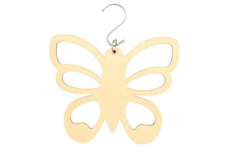 Cintre papillon pour foulards en bois - Porte-manteaux et patères – 10doigts.fr