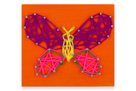 String Art - Kit Papillon - String Art – 10doigts.fr