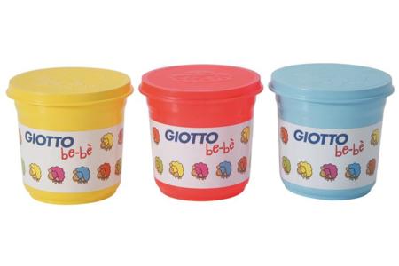 Pots de Pâtes à modeler souples premier âge bébé GIOTTO, ne durcissant pas à l'air - Modelage – 10doigts.fr