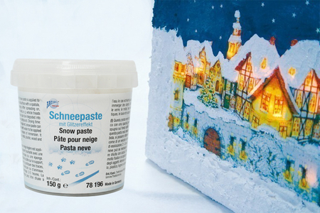 Pâte relief 3D effet neige - Peinture gonflante – 10doigts.fr