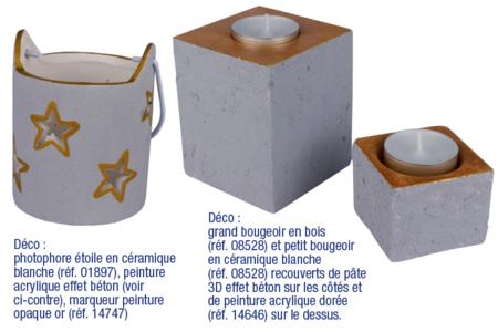 Peinture acrylique Look béton - Peinture effet craie et béton – 10doigts.fr