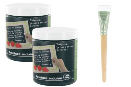 Peinture tableau ardoise - Pot de 250 ml - Peinture ardoise – 10doigts.fr