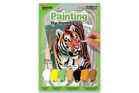 Peinture numero - Le Tigre - Nouveautés – 10doigts.fr