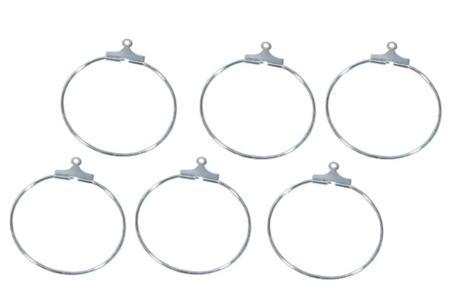 Boucles créoles d'oreille argent - Lot de 6 - Boucles et pendentifs d'oreilles – 10doigts.fr