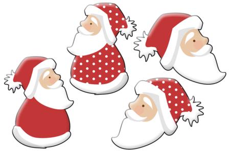 Pères Noël en bois décoré - Set de 8 - Motifs peint – 10doigts.fr