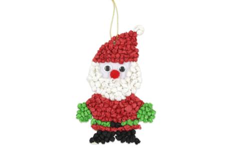 Suspension Père Noël en boulettes de papier de soie - Décoration du sapin – 10doigts.fr