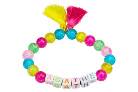 Perles carrées alphabet multicolore - 280 perles - Perles Alphabet – 10doigts.fr