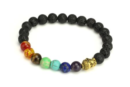 Perles de lave rondes Ø 8 mm - 30 perles - Perles Lithothérapie – 10doigts.fr