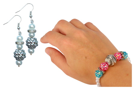 "Perles ""Disco"" 7 couleurs- 21 perles - Perles acrylique – 10doigts.fr"