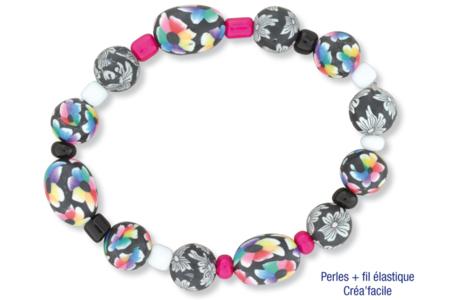 Perles ovales Millefiori en pâte polymère - 40 perles - Perles en pâte polymère – 10doigts.fr