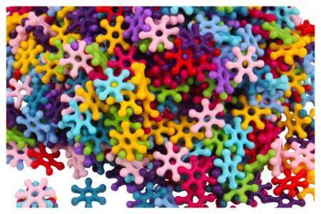 Perles flocons en acrylique - Set de 500 - Perles acrylique – 10doigts.fr