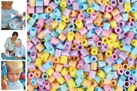 Perles fusibles à repasser, couleurs pastels - Perles fusibles 5 mm – 10doigts.fr