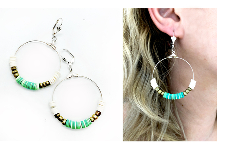 Perles rondelles Heishi - 900 perles - Perles Heishi – 10doigts.fr