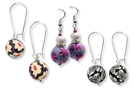 Perles rondes Millefiori - 50 perles - Perles en pâte polymère – 10doigts.fr