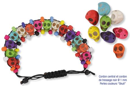 """Perles """"Skull"""" en magnésite - 8 pcs - Pierres semi précieuses et minérales – 10doigts.fr"""