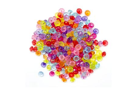 Perles toupies transparentes en acrylique - Set de 275 - Perles acrylique – 10doigts.fr