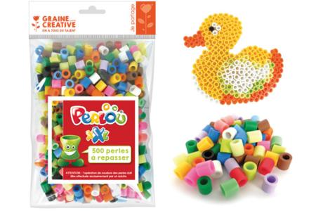 Perles à repasser XXL Perlou  - Set de 500 perles - Nouveautés – 10doigts.fr