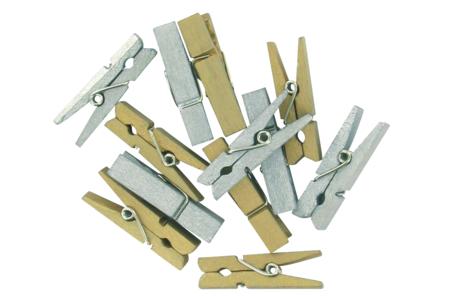 Pinces à linge métallisées - Set de 24 - Pinces à linge fantaisie – 10doigts.fr
