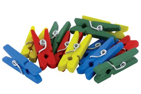 Pinces à linge couleurs assorties - Set de 50 - Pinces à linge classiques – 10doigts.fr