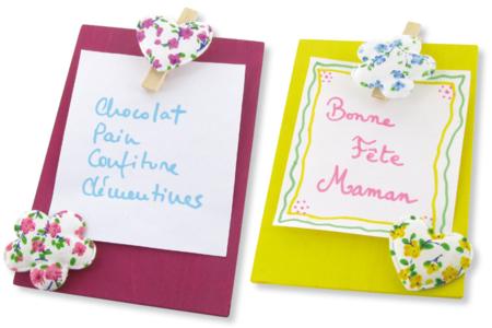 Planchette mémo fleuri - Fête des Mères – 10doigts.fr