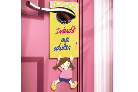 Plaque pour poignée de porte pour fille - Activités enfantines – 10doigts.fr
