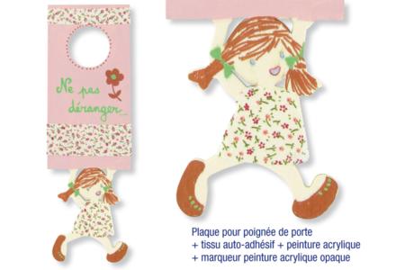 Plaque pour poignée de porte, garçon ou fille - Plaques de porte – 10doigts.fr