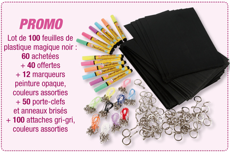 Créer avec du plastique magique noir - Activités enfantines – 10doigts.fr