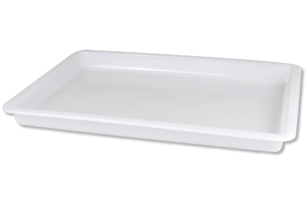 Plateau en PVC blanc - 31.5 x 24 cm - Outils et colles – 10doigts.fr