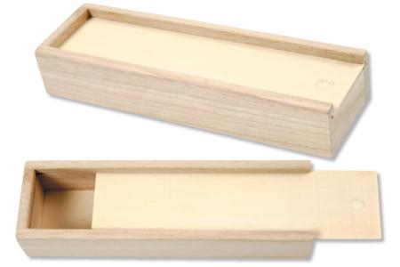 Plumier en bois avec tiroir coulissant - Boîtes et coffrets – 10doigts.fr