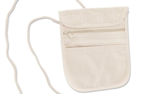 Pochette à bandoulières en coton naturel 3 poches - Fête des Mères – 10doigts.fr