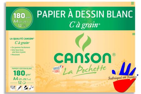 Papiers à dessin blanc Canson - 12 feuilles  - Ramettes de papiers – 10doigts.fr