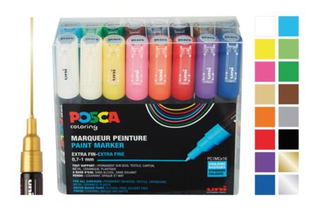 Marqueurs peinture POSCA  - Pointes extra-fines - Marqueurs Posca – 10doigts.fr