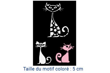 "Pochoir adhésif repositionnable ""Chats"" - Pochoirs Adhésifs – 10doigts.fr"