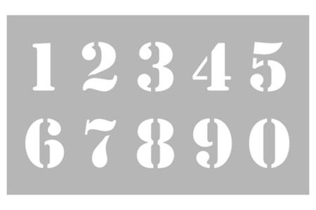 Pochoir Chiffres - Pochoir Alphabet – 10doigts.fr