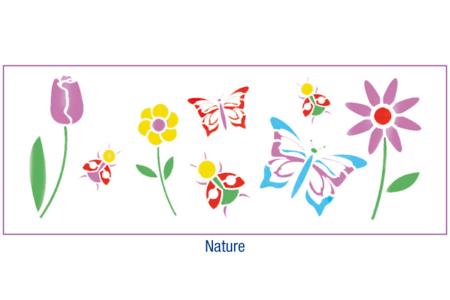 Pochoir frise Nature - 15 x 40 cm - Pochoirs Nature – 10doigts.fr