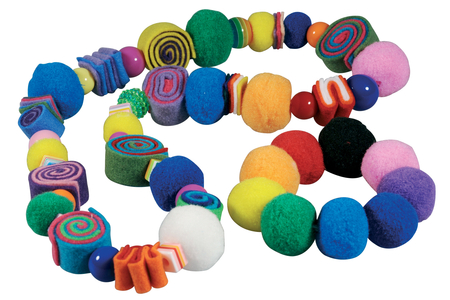Pompons perles couleurs vives - Set de 48 - Pompons – 10doigts.fr