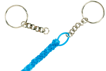 Porte-clés à anneaux avec chaîne - Lot de 25 - Porte-clefs, Anneaux, Mousquetons – 10doigts.fr
