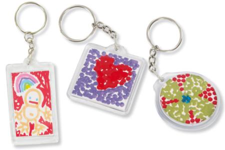 Porte-clefs en plastique transparent - Fête des Mères – 10doigts.fr