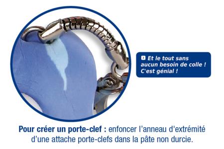 Porte-clefs en pâte à modeler SOFT CLAY - Modelage – 10doigts.fr