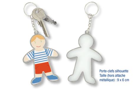 Porte-clefs silhouette - Fête des Pères – 10doigts.fr