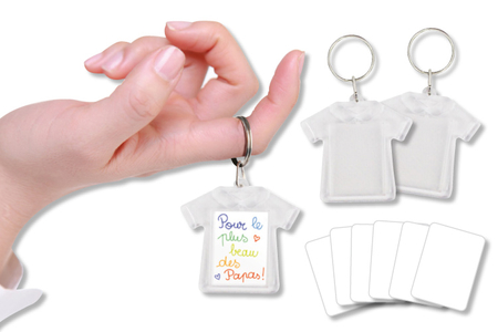 Porte-clefs T-shirt - Lot de 2 - Transparent – 10doigts.fr