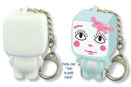 """Porte-clefs """"Toto Le Petit Robot"""" - Activités enfantines – 10doigts.fr"""