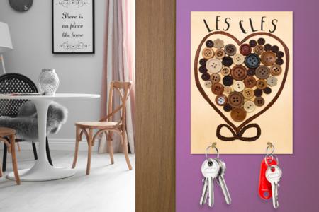 Porte-clés mural Coeur - Déco de la maison – 10doigts.fr
